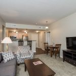 One Bedroom livingroom/kitchen area at The Legends at Whitney Town Center