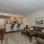 Kitchen/Livingroom of a 2 bedroom apartment at The Legends at Whitney Town Center
