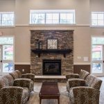 Gorgeous fireplace at The Legends at Whitney Town Center