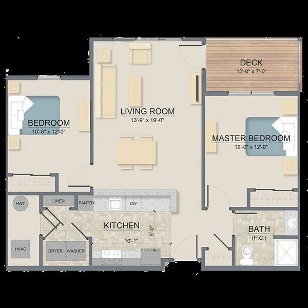 Hemlock floor plan layout for Legends at Whitney Town Center